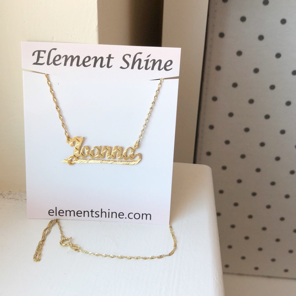 fb71a976a Element Shine Jewelry | Sterling Silver Gold Plated Name Necklace ...